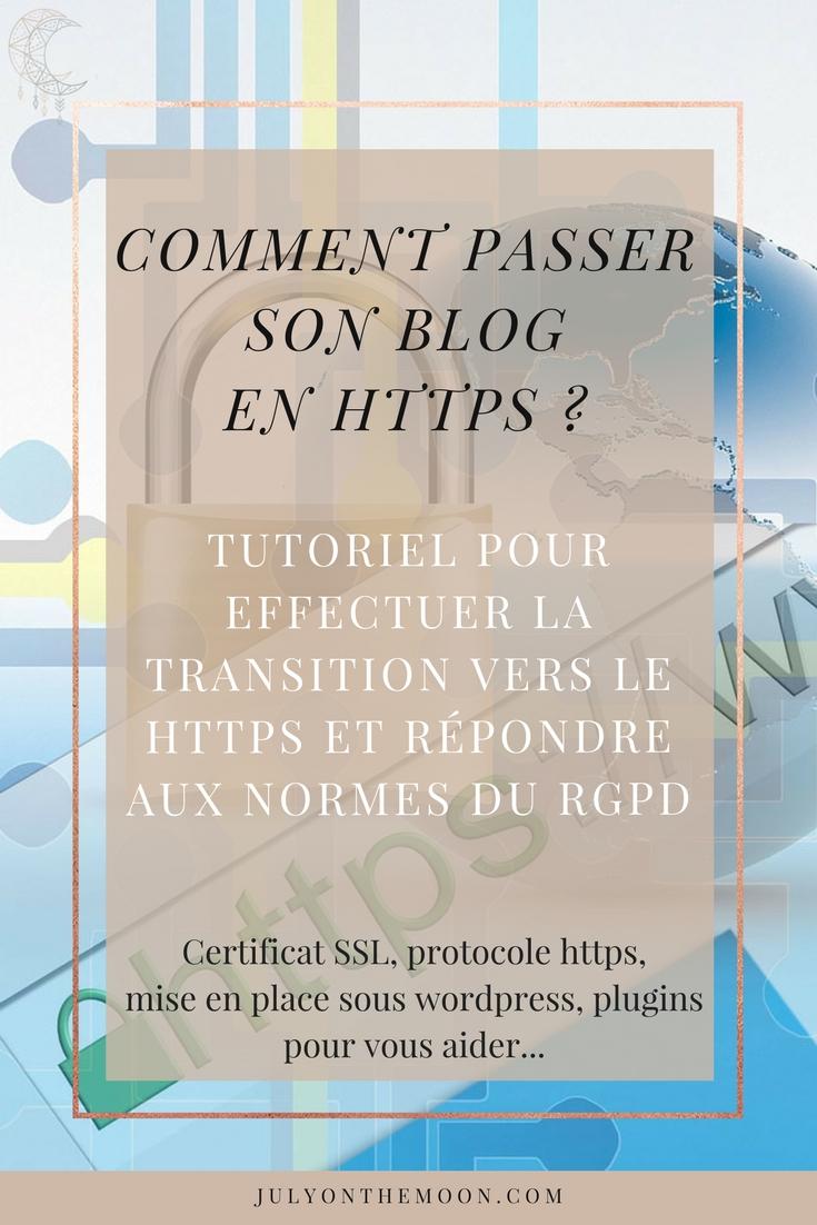Comment passer son blog en https et répondre aux normes du RGPD