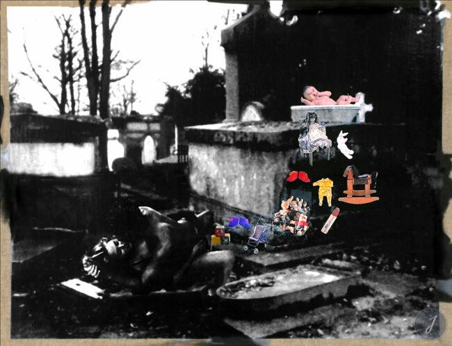 Sans Titre - Photomontage sur Toile - Technique mixte - 1999