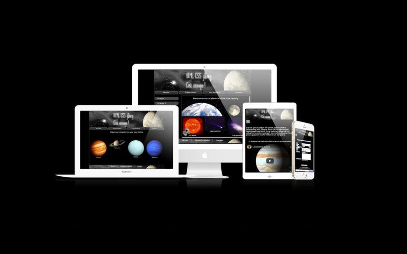 Site Les Planètes - Web Design - HTML, CSS, jQuery - 2019