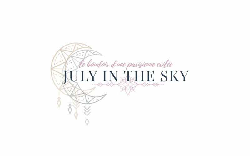 Logo du blog beauté July In The Sky - Graphisme - 2018