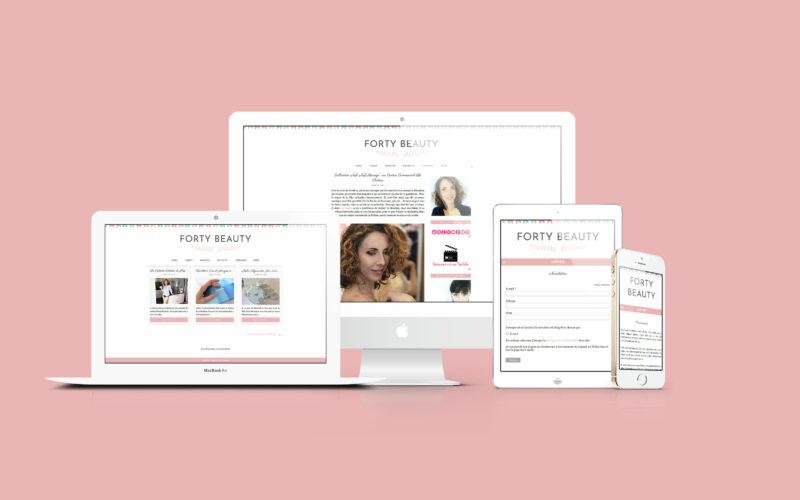 "Création de la newsletter du blog ""Forty Beauty"""